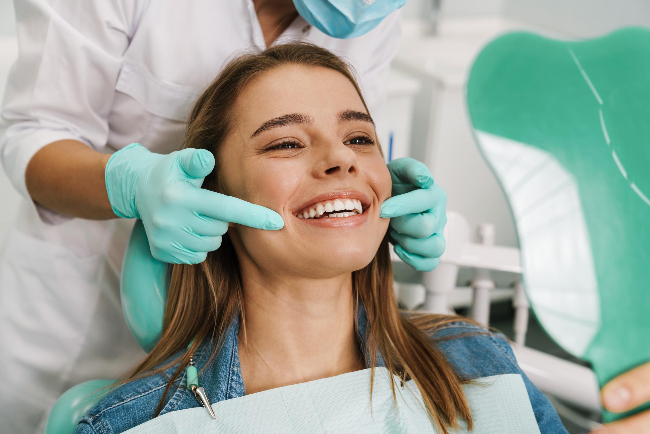 woman getting dental work
